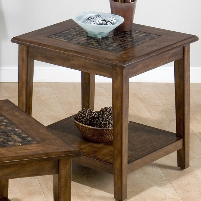 Jofran 698-3 Baroque Brown End Table by Jofran