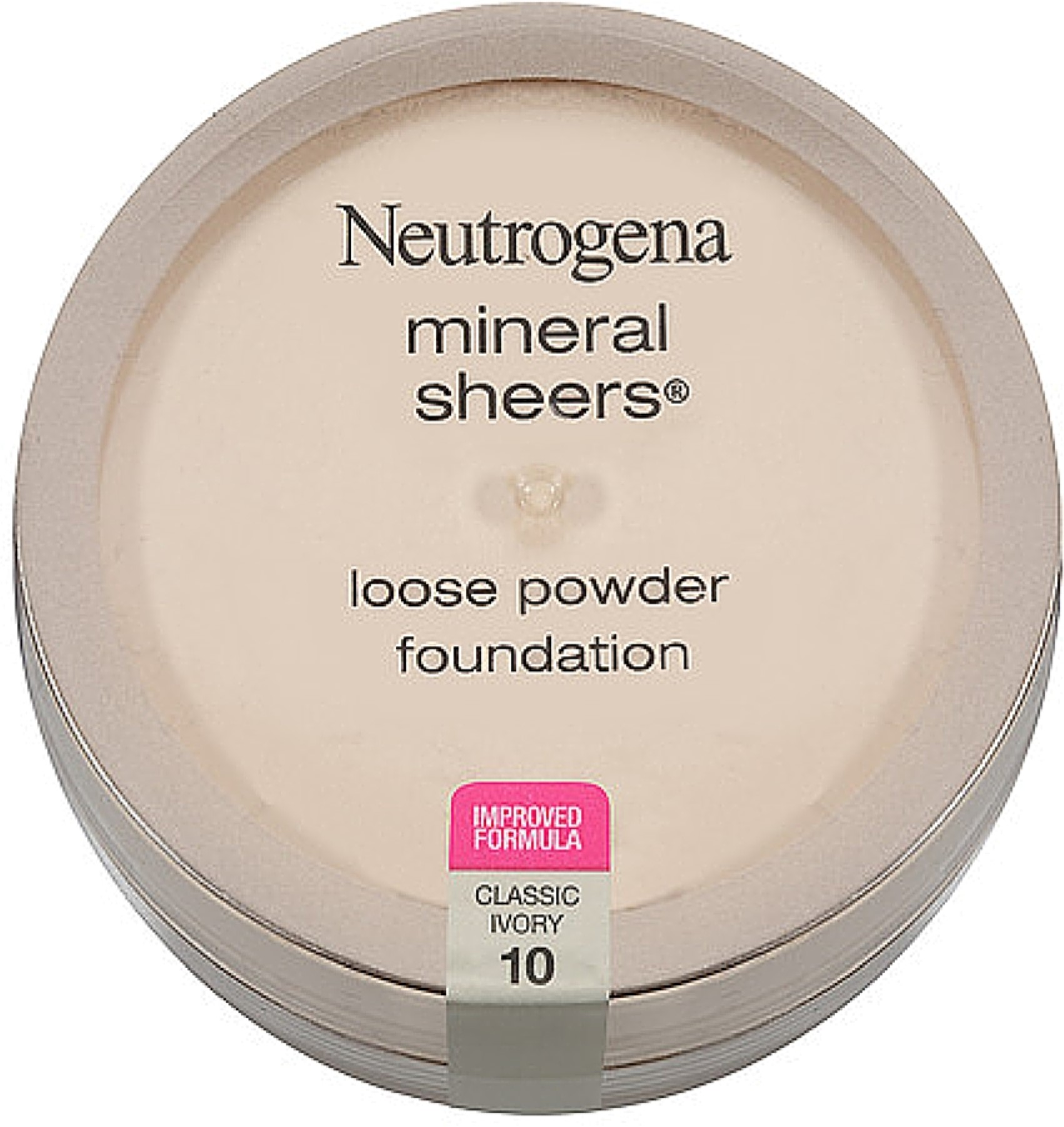 Neutrogena Mineral Sheers Loose Powder Foundation, Classic Ivory [10] 0.19 oz (Pack of 6)