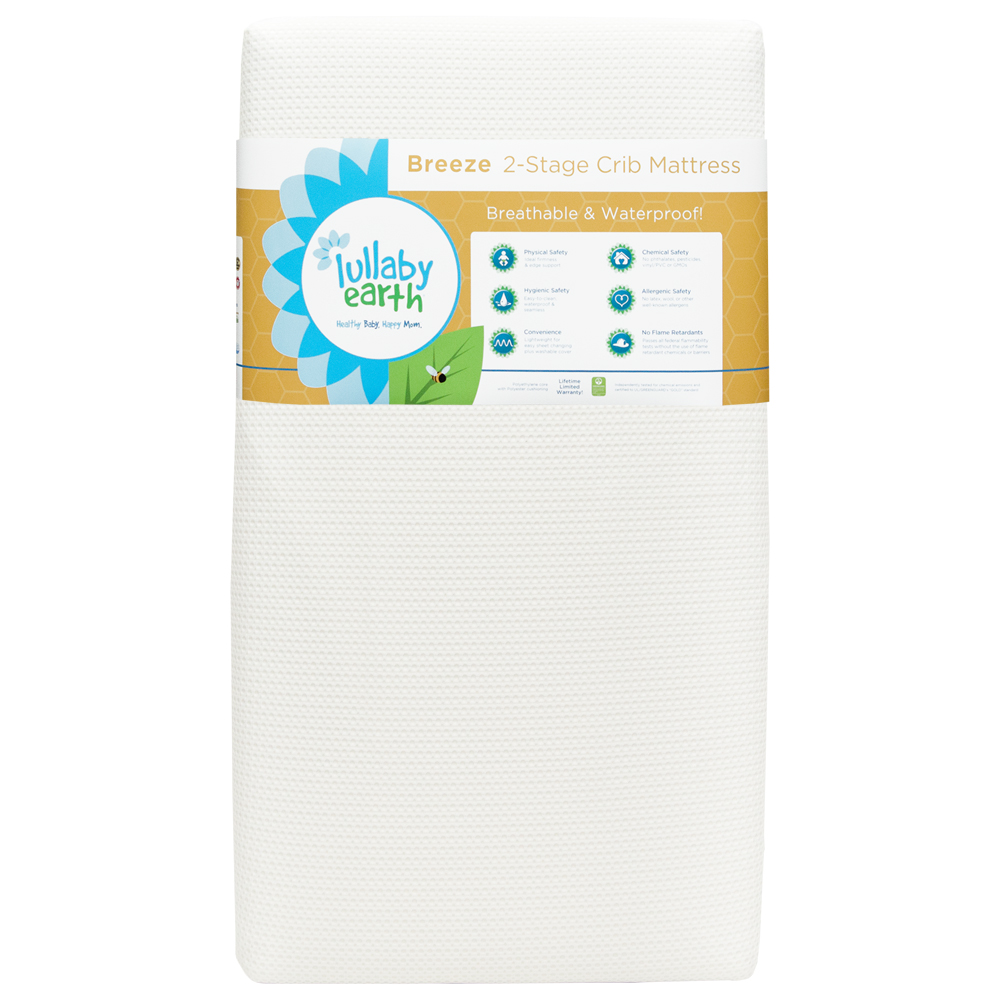 LULLABY EARTH Breeze Crib Mattress 2-Stage by Lullaby Earth