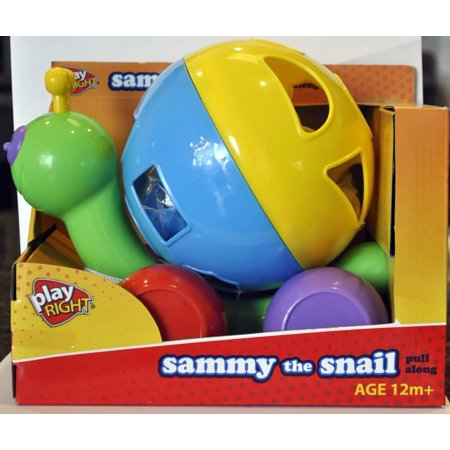 Snail Pull Toy (Sammy the Snail Pull Along Toy By Play Right, Big colorful play shapes By Walgreen Co)