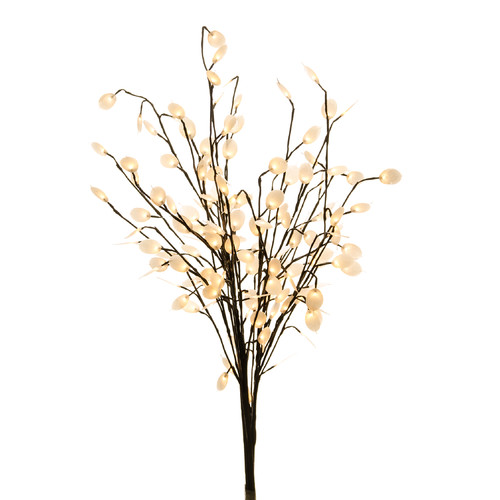 Hi-Line Gift Ltd. Silver Dollar Branches with 144 LED Lights and AC Adaptor