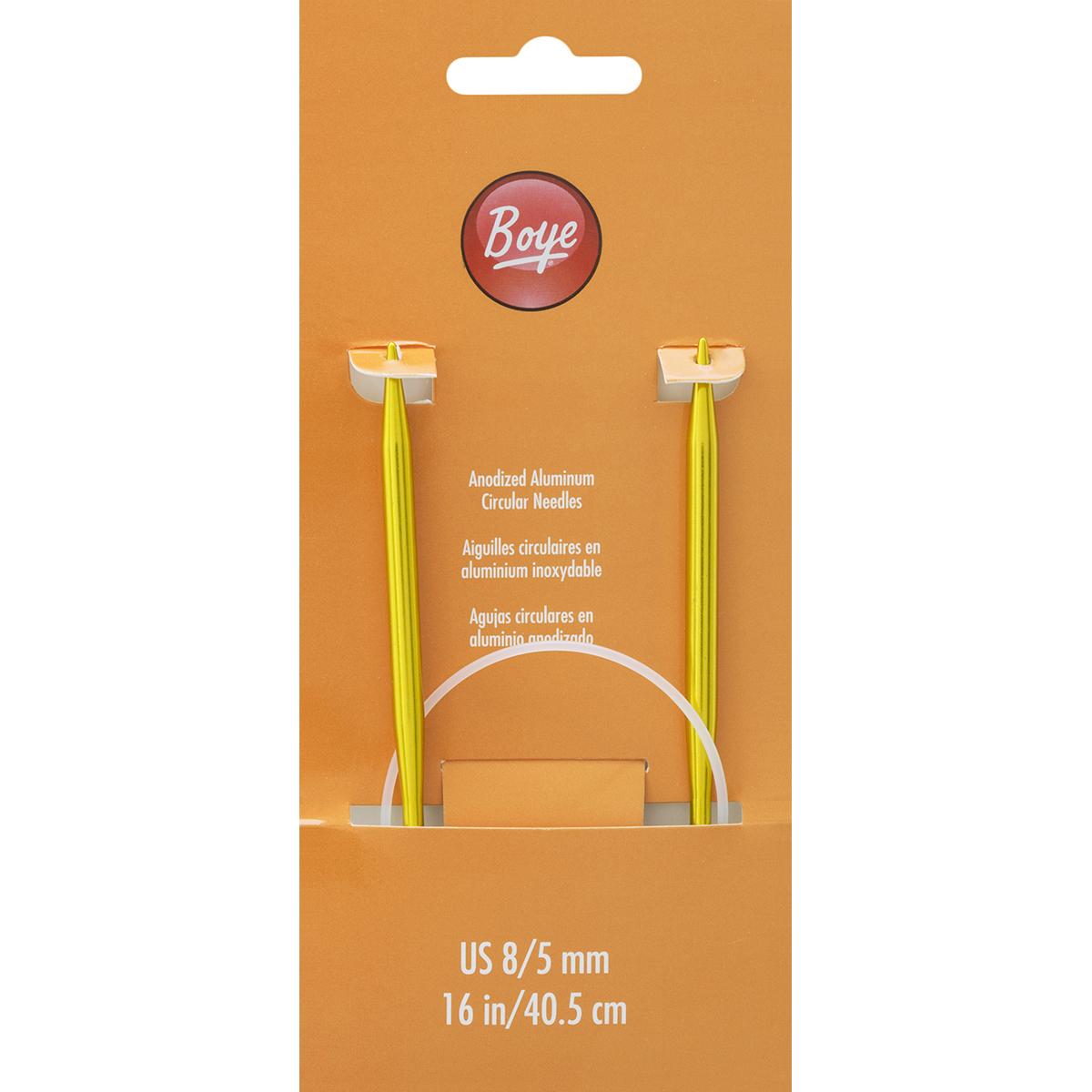 "Circular Aluminum Knitting Needles 16""-Size 8/5mm"