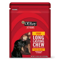Ol' Roy Long-Lasting Chicken Dog Chew Treats, Regular, 10 Count