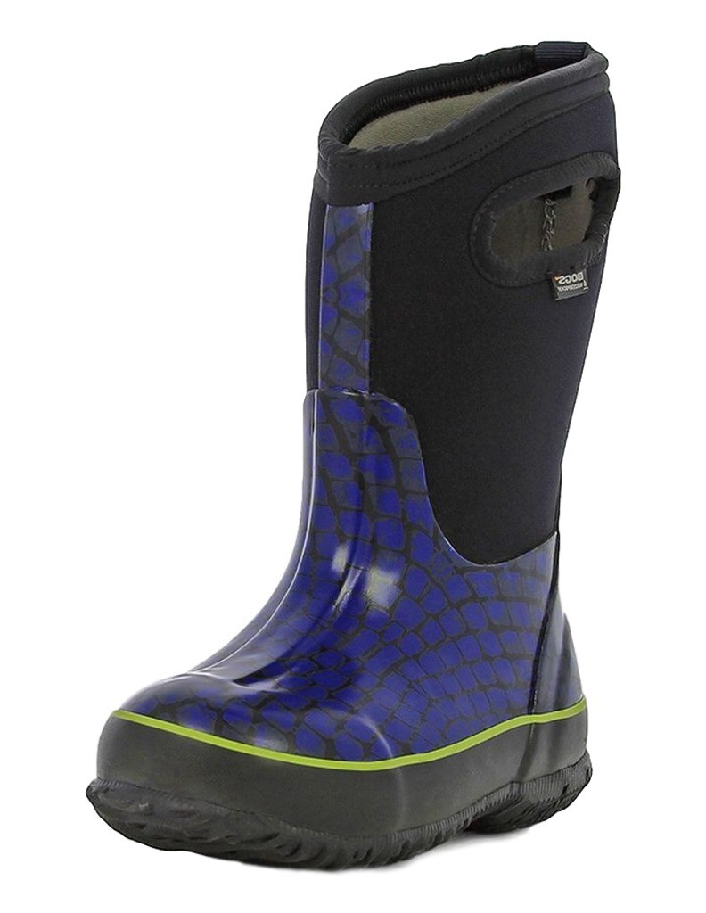 Bogs Boots Kids Kid Classic Scale Pull On Waterproof Rubber 71997 by Bogs