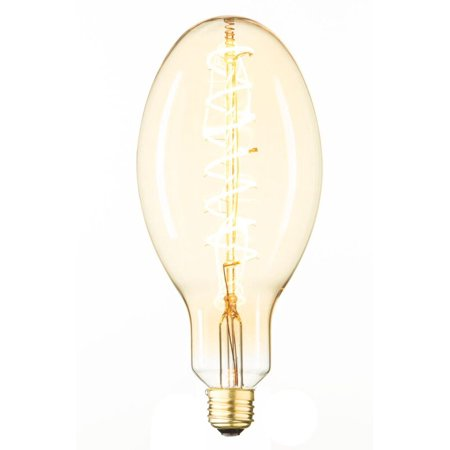Pair Style Swirl Filament Edison Antique Vintage Oversize Led Light Bulb 1 Pack Medium Size 6 Wattage E26 15 000 Hour Of Life