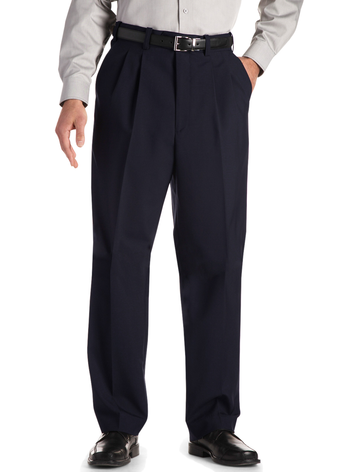 Men's Big & Tall Gold Series Continuous Comfort Pleated Suit Pants