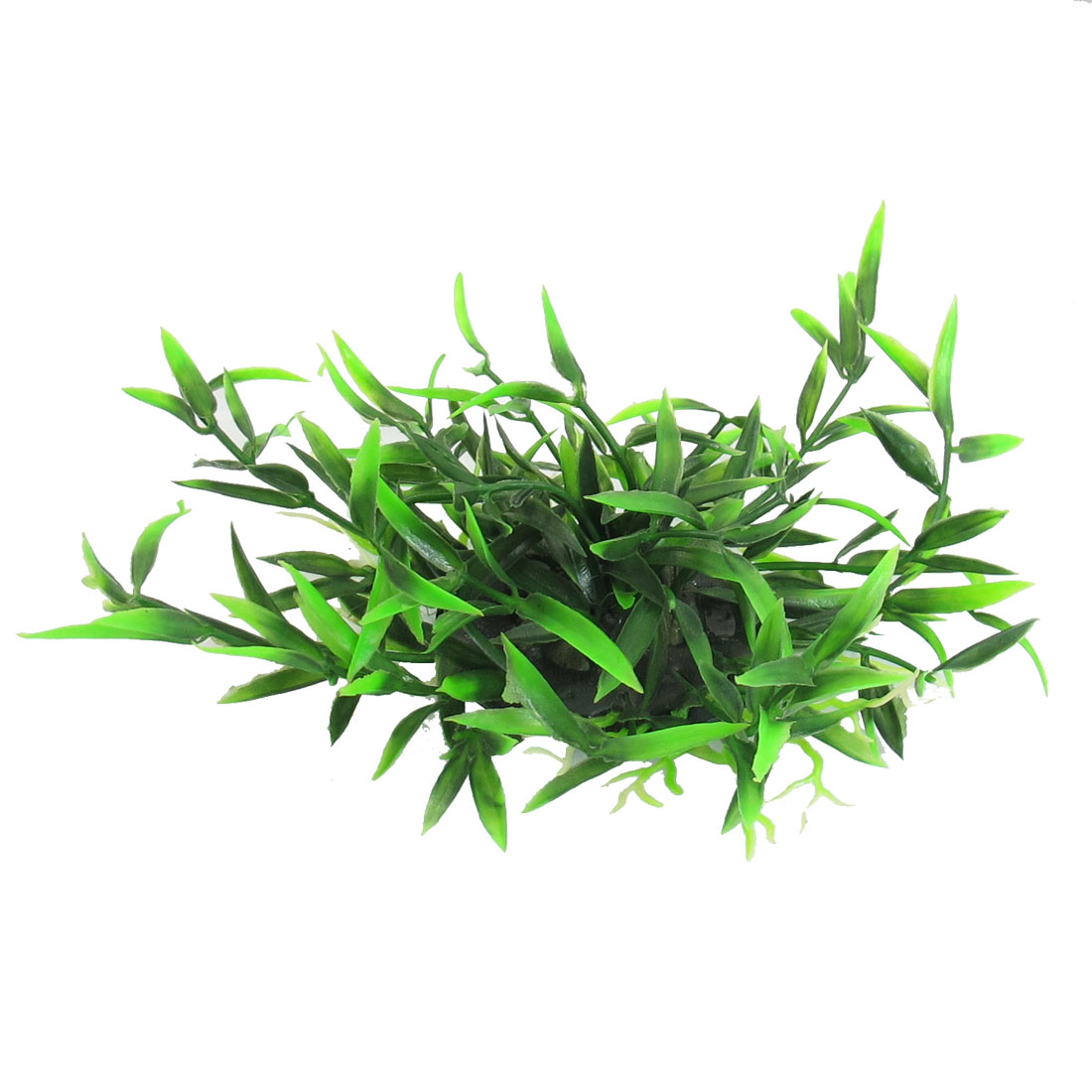 Unique Bargains Unique Bargains Emulational Plant Grass Aquarium Fish Tank Decor Green 4""