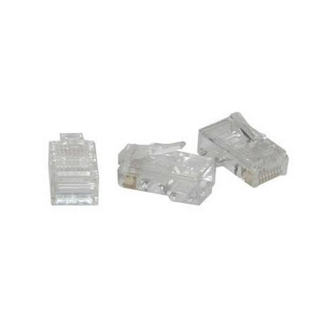 Rj45 Cat5 8X8 Modular Plug For Flat Stranded Cable - 10Pk