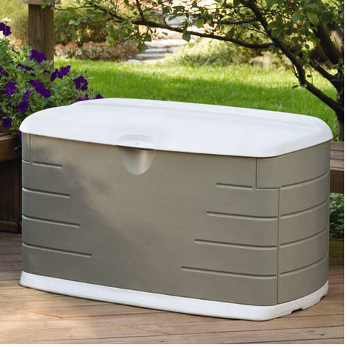 rubbermaid 75gallon outdoor storage box - Lockable Storage Box