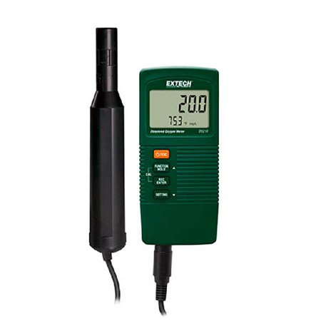 Extech DO210 Compact Disolved Oxygen Meter measures Disolved Oxygen or % Oxygen plus Temperature