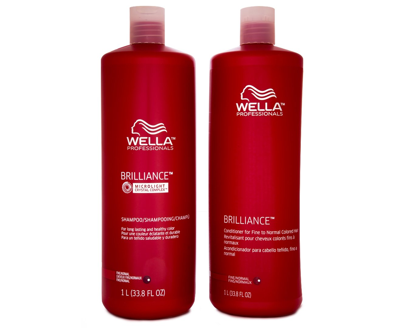 Wella Brilliance Shampoo and Conditioner Liter Duo for ...