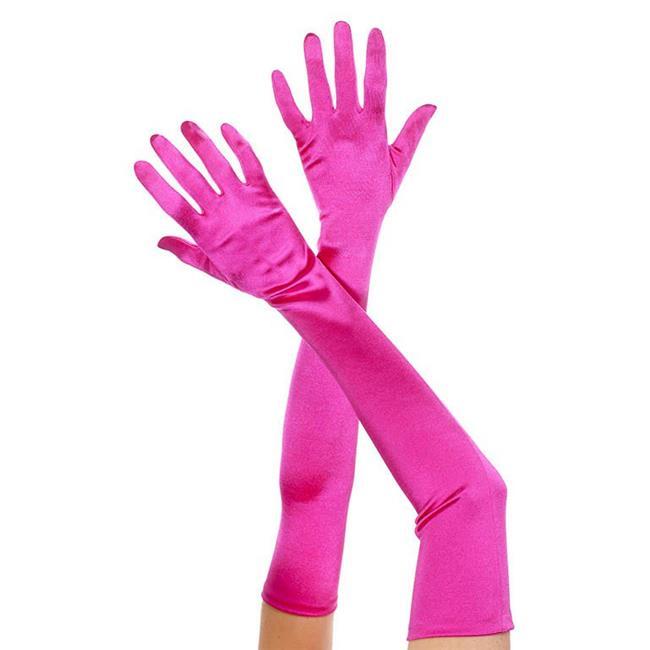 Extra Long Metallic Gloves Adult Costume Accessory Metallic Black