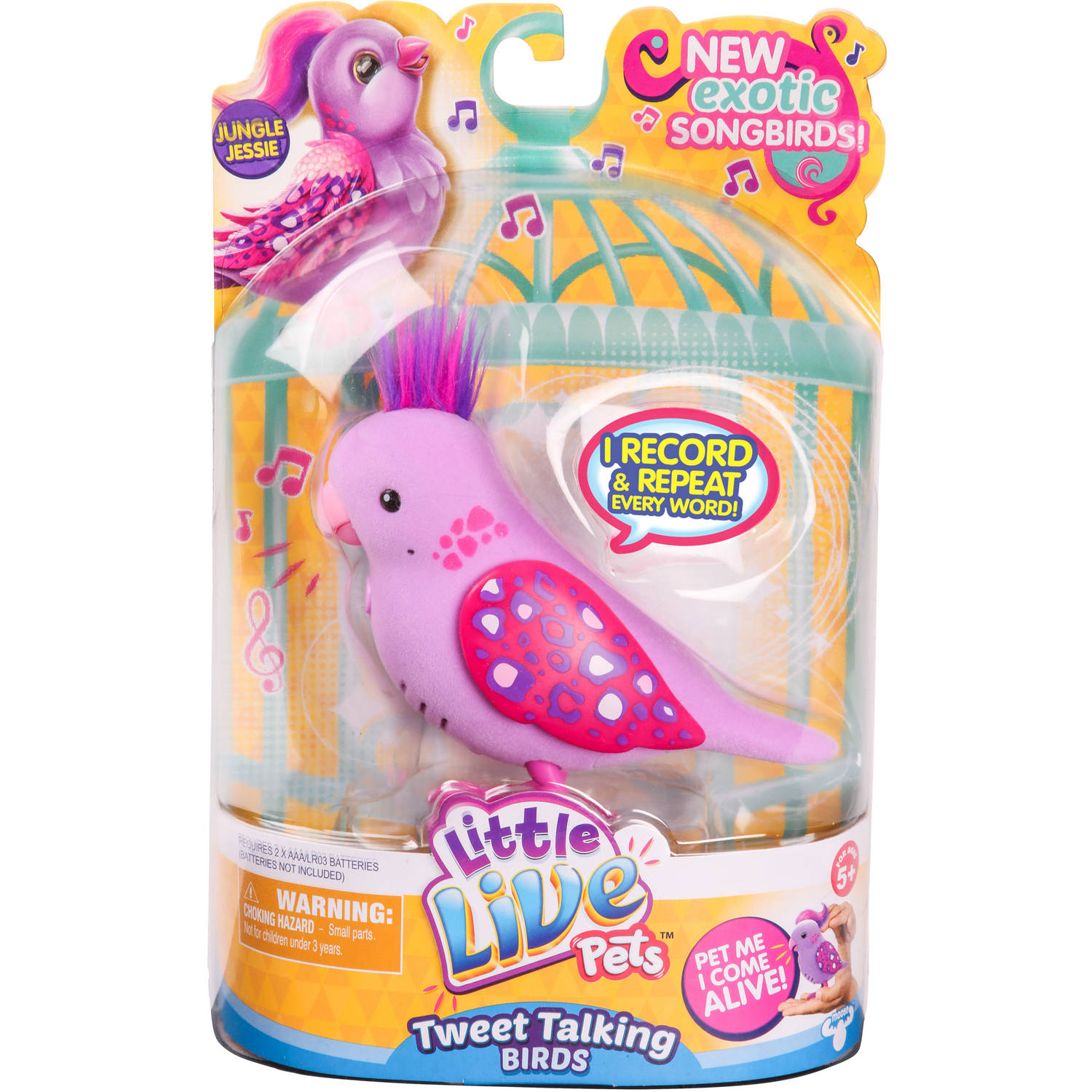 Little Live Pets S5 Bird Single Pack, Jungle Jessie
