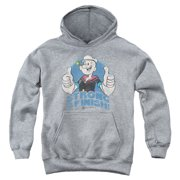Popeye To The Finish Big Boys Pullover Hoodie