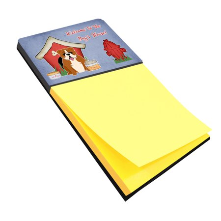 Dog House Collection English Bulldog Red White Sticky Note Holder BB2874SN
