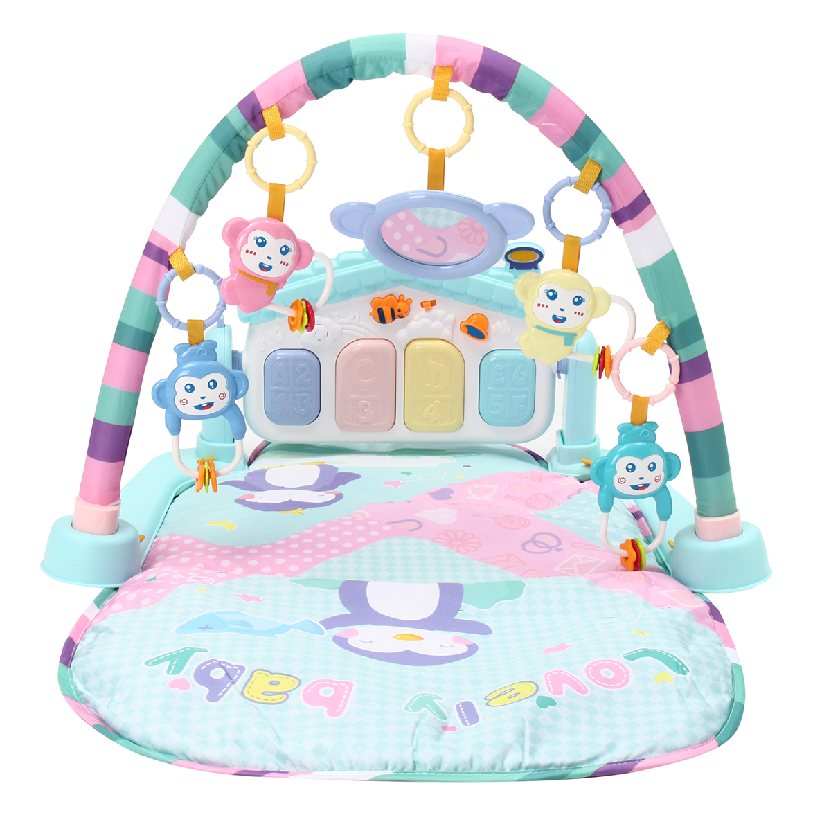 Baby Toddler Infant 3 in 1 Musical Piano Play Mat Activity Gym