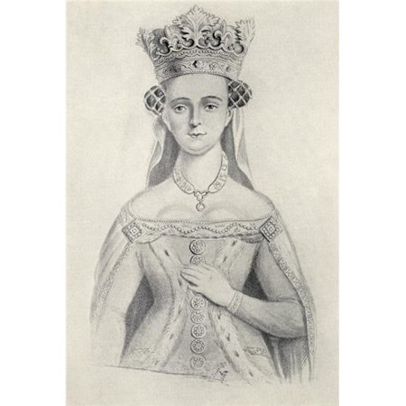Joan of Navarre Circa. 1370 to 1437 Queen Consort of England Through Marriage to King Henry IV of England From The Book Our Queen Mothers By Elizabeth Villiers Poster Print, 24 x 34 - Large - image 1 of 1