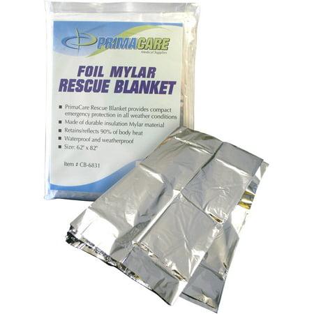 Primacare Emergency Foil Mylar Thermal Blanket, 12 count