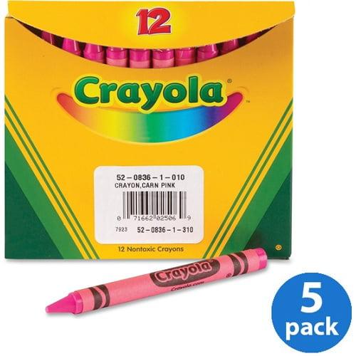 Crayola Bulk Crayons, 12 count, Pink, Pack of 5