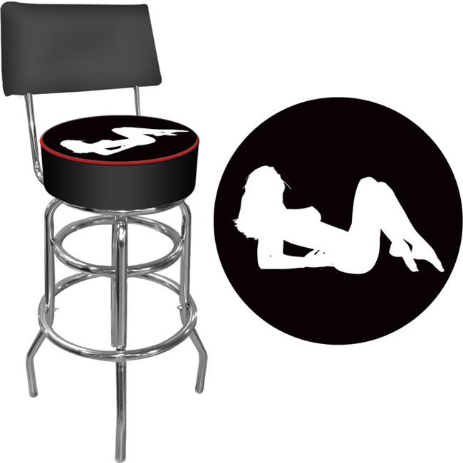 Shadow Babes - A Series - High Grade Padded Bar Stool with Back