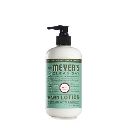 (3 pack) Mrs. Meyer's Clean Day Hand Lotion, Basil, 12 - Natural Orange Hand Cleaner Lotion