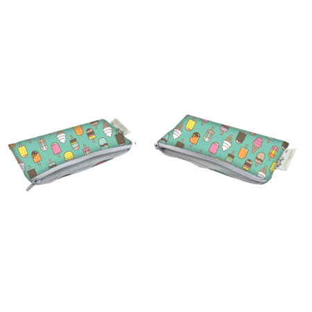 Itzy Ritzy® Snack Happens™ Mini Reusable Snack and Everything Bags, Ice Cream