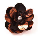 Expo Int'l Layered Lace Sequin Flower Pin and Hair Clip