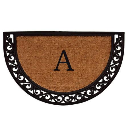Ornate Scroll Monogram Doormat (Letter H) ()