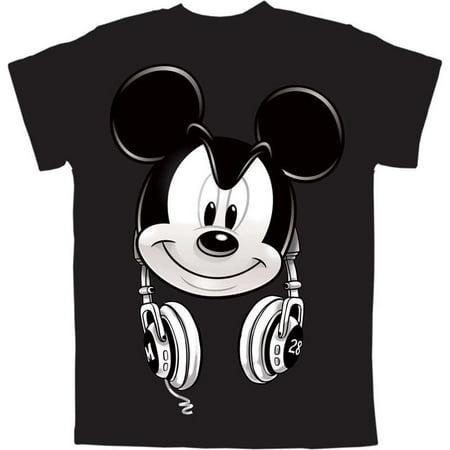 e356c61b5be58 Disney - Men s Plus Size Disney Mickey Mouse Headphones T Shirt -  Walmart.com