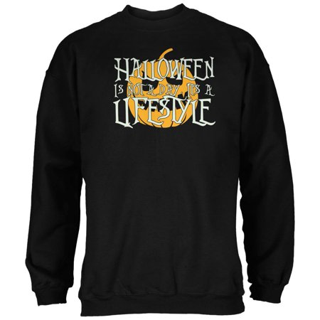 Halloween Lifestyle Black Adult Sweatshirt - Open Your Life Halloween