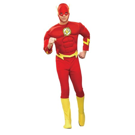 Rubies Mens Flash Muscle Chest Adult Superhero Costume, Medium - Mens Superhero Costumes