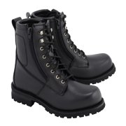 M Boss Motorcycle Apparel BOS49006 Mens 9 Inch Black Trooper Leather Motorcycle Boots Black