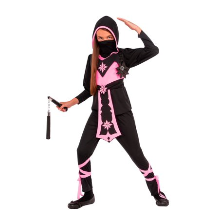 Girls Pink Crystal Ninja Costume](Ninja Girl Costumes)