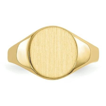 14K Yellow Gold Signet Ring - image 2 de 5