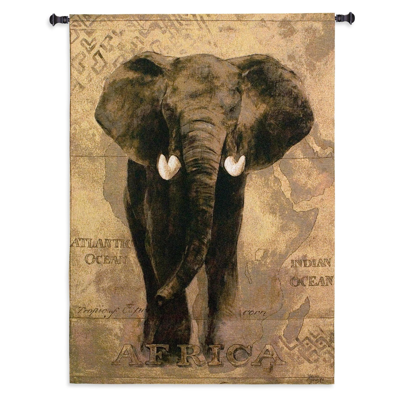 FineArtTapestries 1599-WH African Voyage I Wall Tapestry, Conde Nast-American Golfer June 1928 EXCL Wall TapestryThe by Supplier Generic