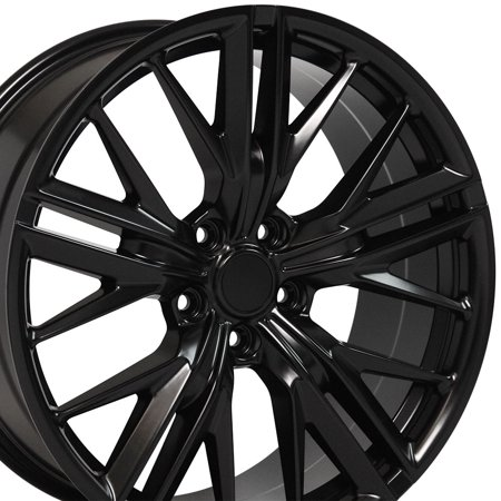 OE Wheels 20 Inch Fits Chevy Camaro 10-2018 ZL1 Style CV25 20x9.5/20x8.5 Rims Satin Black SET