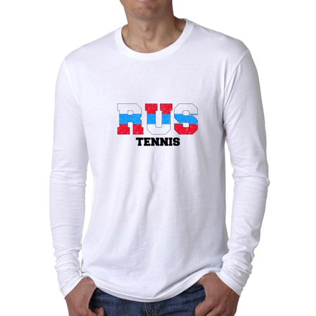 Russia Tennis - Olympic Games - Rio - Flag Men's Long Sleeve T-Shirt