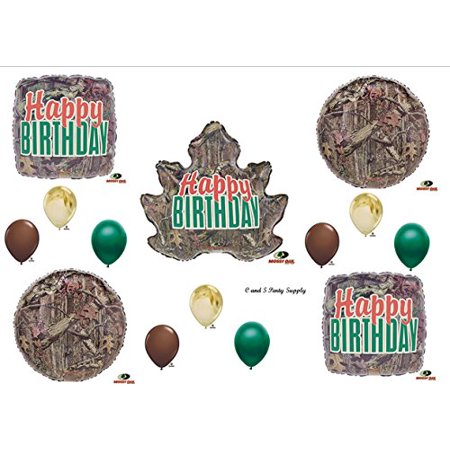 MOSSY OAK LEAF Camouflage Happy Birthday Party Balloons Favors Decorations Supplies - Camo Decorations