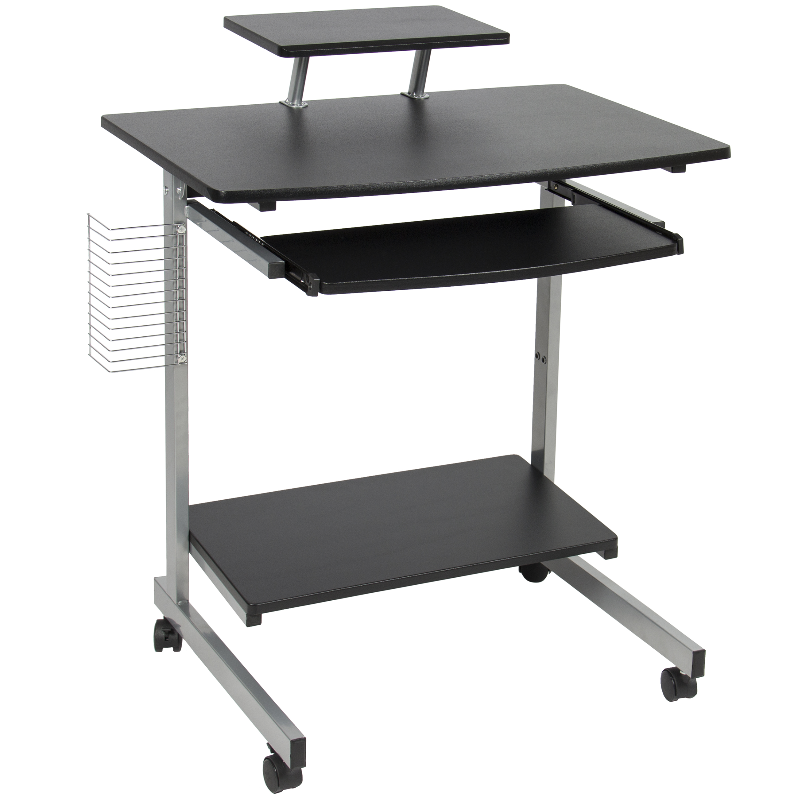 Delicieux Best Choice Products Portable Computer Desk Cart PC Laptop Table Study  Workstation W/ Built In Caster Wheels, CD/DVD Rack For Student, Dorm, Home  ...