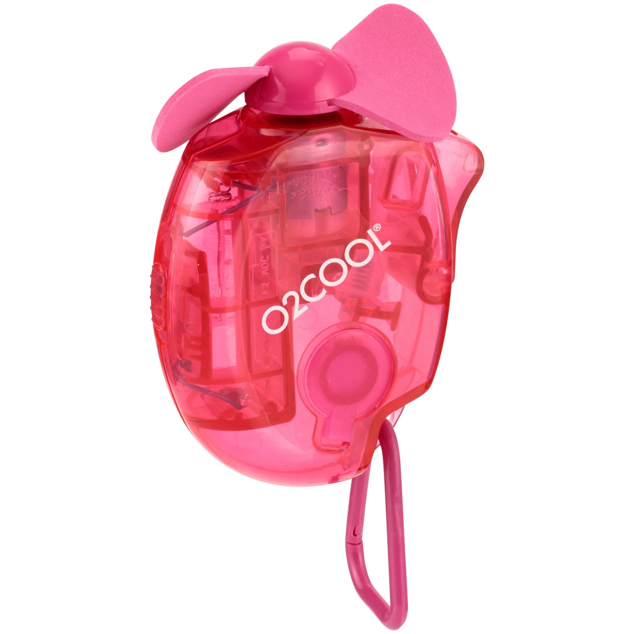 O2Cool® Raspberry Carabiner Misting Fan