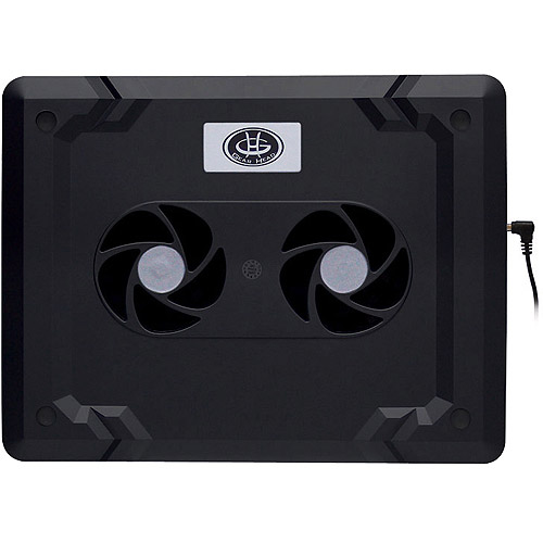 Gear Head USB Dual-Cool Cooling Pad, Black