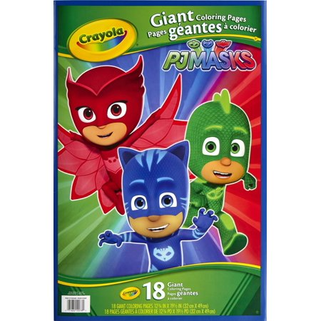 Crayola Giant Coloring Pages Featuring Disney'S Pj Masks