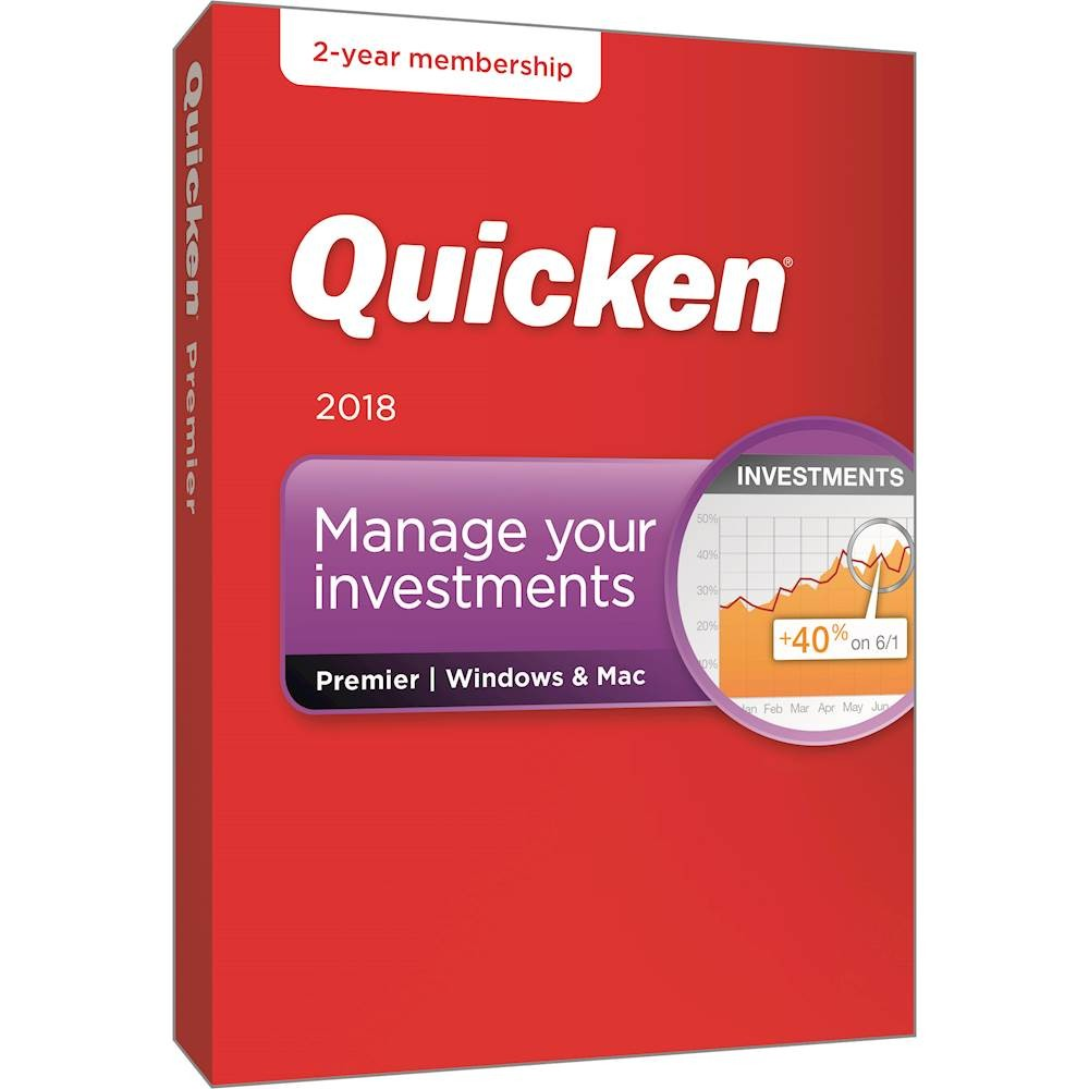 Quicken Premier 2018 for Windows and Mac