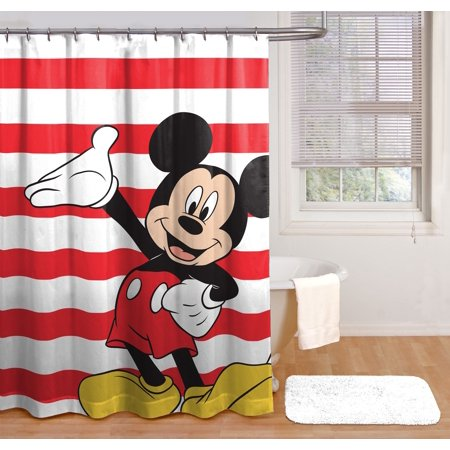 Disney Mickey Mouse Fabric Shower Curtain 1 Each