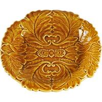 Ceramic Salad Plates Browns, Set of 4