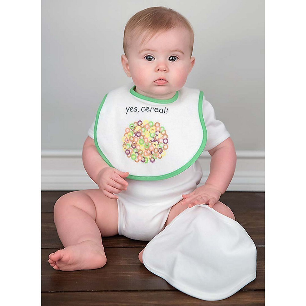 Raindrops Unisex Baby Bib-To-Go 3-Piece Gift Set, Cereal by Raindrops