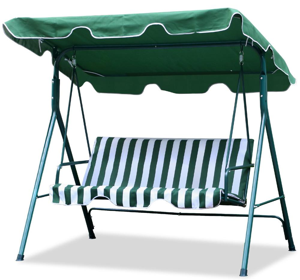 Yaheetech Garden/Backyard 3 Seater Cushioned Patio Swing,With UV Protected  Canopy, Max