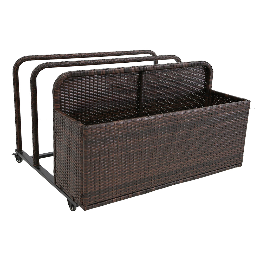 Modern Home Spa Resort Woven Wicker Pool Float Storage Organizer by Vandue