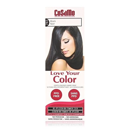CoSaMo - Love Your Color Non-Permanent Hair Color 783 Black - 3 oz. + 3 Count Eyebrow