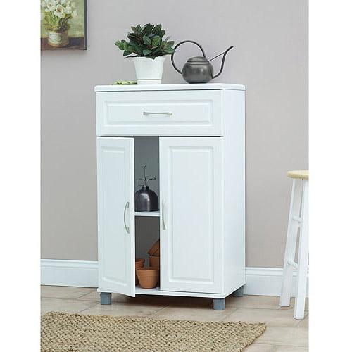 SystemBuild 1 Drawer / 2 Door Base Storage Cabinet, White  7367401PCOM